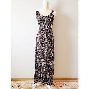 Feathers Boho Cutout Maxi Dress